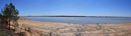 Panorama of Enid Lake in Mississippi Stock Photo
