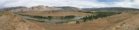 View across the Green River in Dinosaur National Monument, Utah