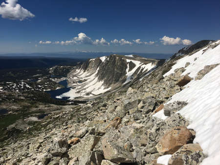 View from Medicine Bow Peak in the Snowy Range, Wyoming