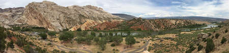 Campground along the Green River in Dinosaur National Monument, Utah