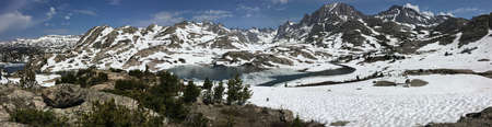 Fremont Peak and the Titcomb Basin in the Wind River Range, Wyoming Stock Photo