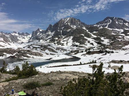 Fremont Peak in the Wind River Range, Wyoming Stock Photo