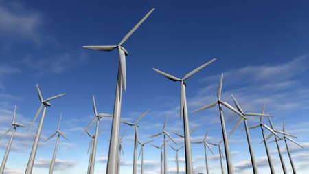 wind farm: Wind turbine or wind farm park