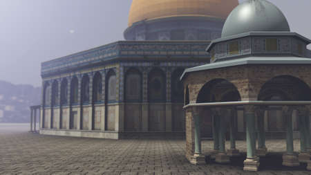 3d temple: Exterior of the Dome of the Rock in Jerusalem
