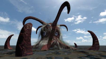 sea monster: Fantasy comic seamonster