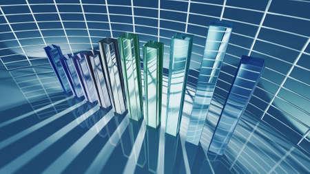 Business bar chart for economic concept