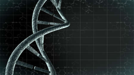 Genetic science background with DNA
