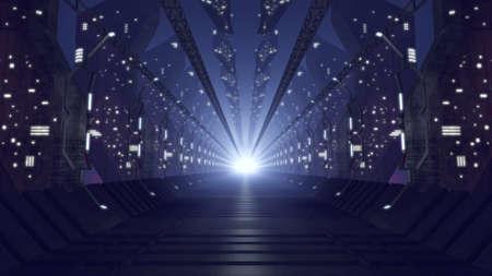 interior spaces: Futuristic glass corridor