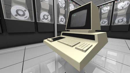 hardware: Retro designed computer hardware in a room