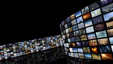 3d rendering. Cinema Entertainment videowall