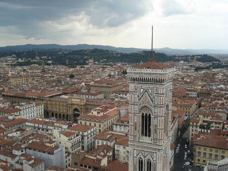 두오모에서 피렌체, 이탈리아의 공중보기 스톡 콘텐츠