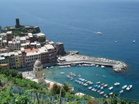 amore: View of Vernazza, Italy from from the Via De Amore