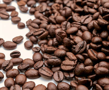 commodities: Photo illustrated a fruit coffee grains roasted seed Foto de archivo