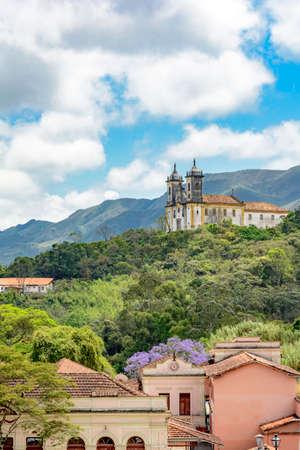 paula: View of San Francisco de Paula church in Ouro Preto