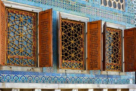harem: Windows inside the Topkapi Palace harem in Istanbul