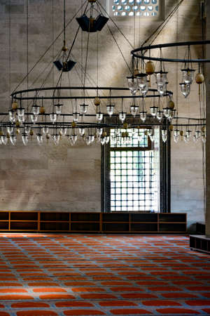 constantinople ancient: Corridor and fixtures of the Suleymaniye Mosque in Istanbul Editorial