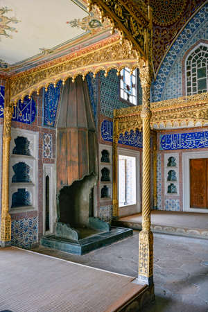 sultan: Bedroom of Sultan at Topkapi palace in Istanbul Editorial