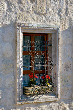 goreme: Window in a house in the town of Goreme in Cappadocia, Turkey