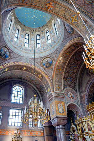 richly: Richly decorated interior of the Uspenski Cathedral in Helsinki Editorial