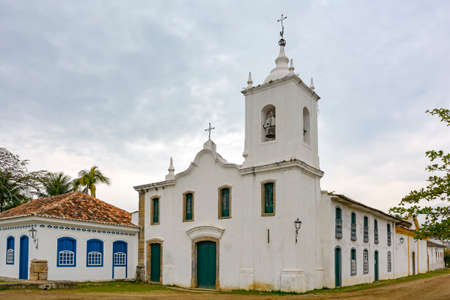 our lady of sorrows: History Church of Our Lady of Sorrows built in 1800 in the historic city of Paraty also by women from the local aristocracy Stock Photo