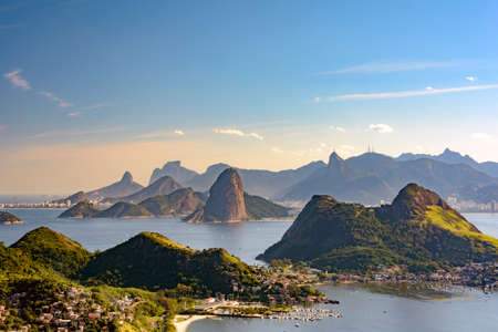 addressee: View of Guanabara Bay, Sugar Loaf and hills of Rio de Janeiro from the City Park in Niteroi