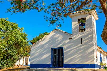 Bones chapel built in the 18th century on the beach of the Bones in Buzios, Rio de Janeiro