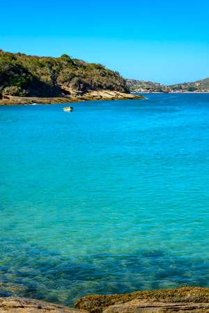 blue waters: View of blue waters of beautiful Azedinha beach inBuzios, Rio de Janeiro