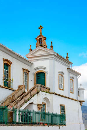 Architectural details of a church in Ouro Preto, Minas Gerais Imagens