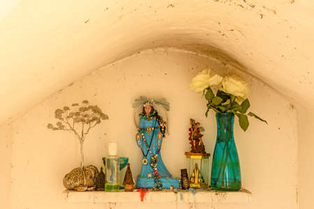 Small altar to Iemanja queen of the sea according to religions of African origin umbanda and candoble.