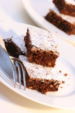 Brownies with powdered sugar photo