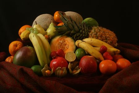 composing: opulent composing of different fruits