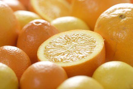 luscious: Oranges and lemons Stock Photo