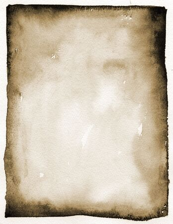 imprecise: India ink rectangle in sepia colors