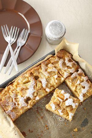 sucre glace: D�licieuse tarte aux pommes avec du sucre glace