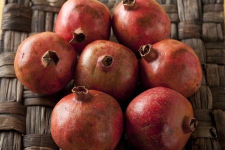 punica granatum: Punica granatum, tropical pomegranate, fresh harvest, Stock Photo
