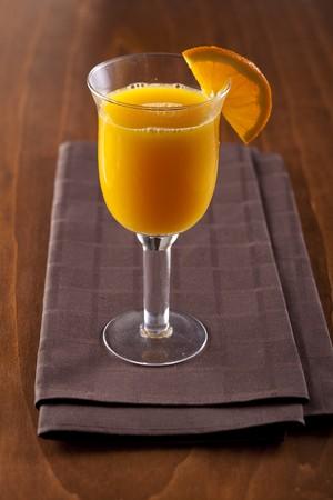 vitamines: Glass of freshly squeezed orange juice