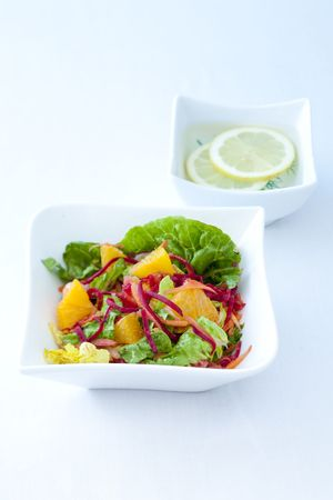 carot: Fruity Summersalad Stock Photo