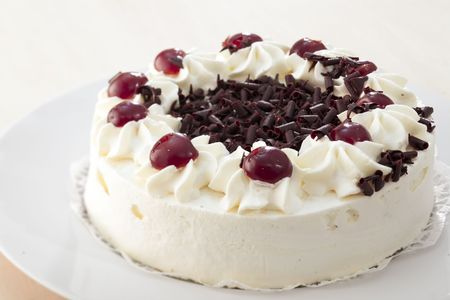carb: Black Forest gateau Stock Photo