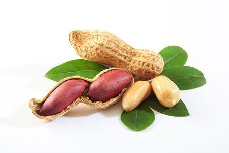 arachis: Raw peanuts in the nutshell