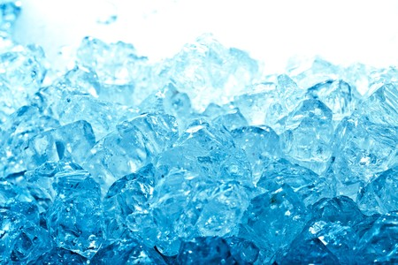 icecubes: Blue and shiny ice cubes