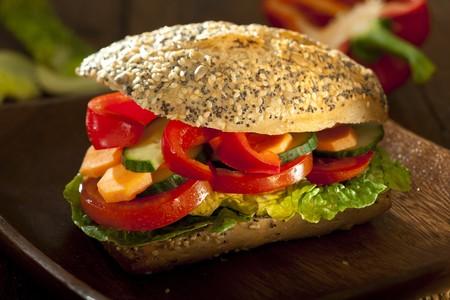 vegetarian burger with fresh ingredients