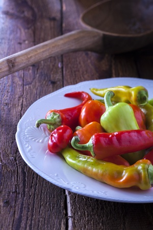 sorts: Different sorts of peppers Stock Photo