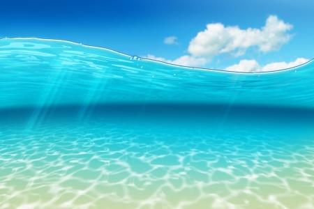 fondali marini: Airbrush di una scena sottomarina con un tocco caraibico
