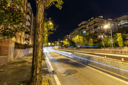 Lights and streets in the city nights Reklamní fotografie