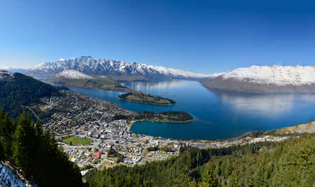 Queenstown, South Island, New Zealand during Spring Stock Photo