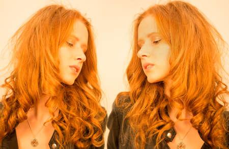 red head: Red Head Caucasian Model