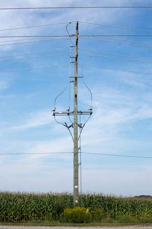 kracht: Macht Pole Stockfoto