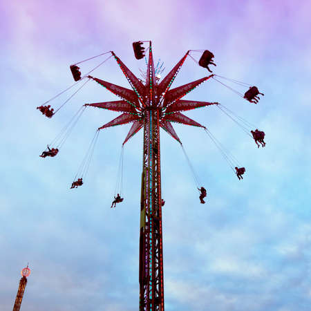 Swing Out Fair Ride Imagens - 44680362