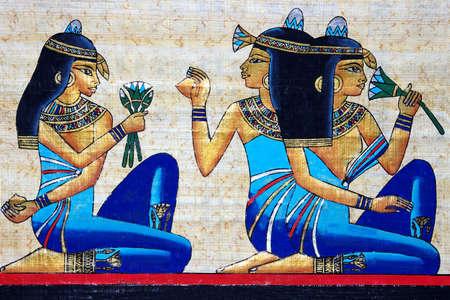 lotus temple: egyptian papyrus