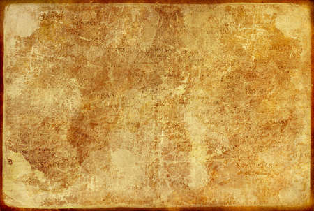 historic place: old paper texture with elements of map